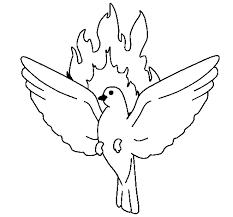 Coloriage de Colombe de Pentecôte pour Colorier  Coloritoucom
