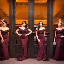 burgundy bridesmaid dresses burgundy bridesmaid dress mermaid shoulder sweep