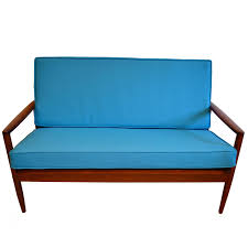 mid century modern love seat settee small sofa by dan marc