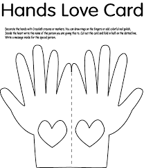 hands love card coloring page crayola com