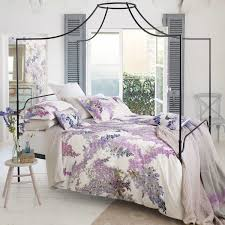 lilac floral bedding sanderson wisteria falls at bedeck 1951