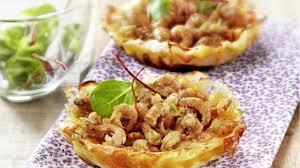cuisiner crevette recette petites tartes normandes aux crevettes grises cuisiner