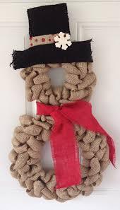 christmas burlap wreaths burlap snowman wreath 47 christmas wreaths to welcome your