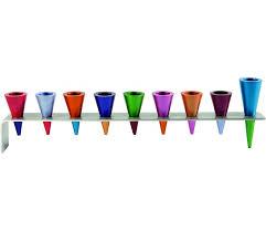 hanukkah menorah yair emanuel anodized aluminum hanukkah menorah colorful cones