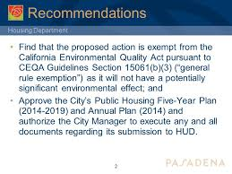 Council On Environmental Quality Guidelines Housing Department City Council Housing Agency Five Year