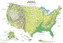 United States Map With Labeled States by United States Topographical Map Students Britannica Kids