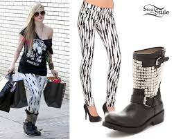 fashion motorcycle boots avril lavigne studded motorcycle boots steal her style