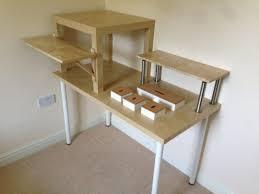 Adjustable Standing Desk Ikea by Desk Diy Adjustable Standing Desk Inside Charming Diy Adjustable
