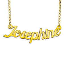 Gold Plated Name Necklace Goldplated Name Necklace Model Josephine