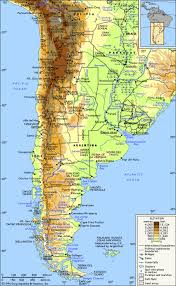 physical map of argentina moved south america physical map