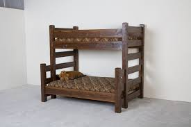 Bedroom Furniture Made From Logs Hand Made Barnwood Bunk Bed By Viking Log Furniture Custommade Com