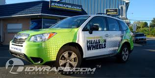 green subaru forester subaru forester wrap meals on wheels 3m vinyl graphics idwraps