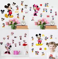 hot sale mickey mouse minnie mouse bathroom decoration cartoon hot sale mickey mouse minnie mouse bathroom decoration cartoon cute glass wall stickers 20 30 cm in wall stickers from home garden on aliexpress com