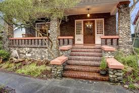 wraparound porch craftsman front door with glass panel door wrap around porch