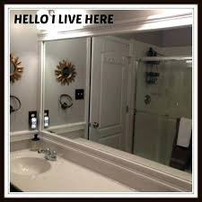 framing bathroom mirrors by hello i live here learn how to frame