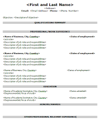 Formats For Resumes Free Resume Templates For Nurses Resume Template And