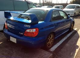blue subaru wrx file the rearview of blue subaru impreza wrx sti gdb jpg