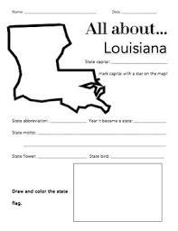 louisiana state map key louisiana state facts worksheet elementary version worksheets