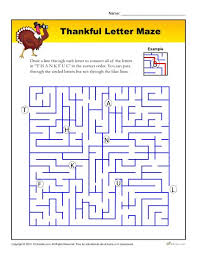 thankful letter maze printable thanksgiving maze activity