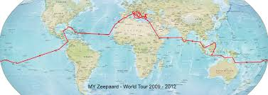 Thailand On World Map by Zeepaard Yacht World Tour Map U2014 Luxury Yacht Charter U0026 Superyacht News