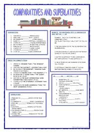 644 free esl comparison comparative and superlative worksheets