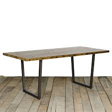 reclaimed wood and metal dining table with ideas hd photos 7036