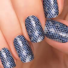 diamondback blue nail polish appliqués nail designs incoco