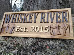 amazon com personalized bar sign custom carved wood sign