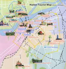 Chinese Map China Harbin Map Tourist Map Attractions