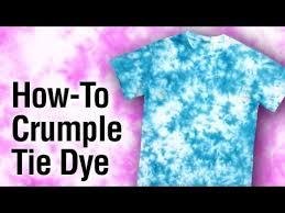 tulip tie dye crumple technique how to youtube