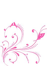 pink swirl birds butterfly princess clip at clker com
