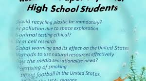 thesis about education in english research paper topics for high school students youtube topic in
