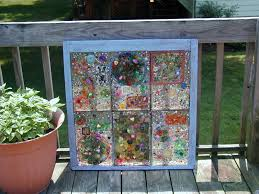 melted plastic tiles beads marbles etc incorporated into a