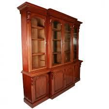 Mahogany Bookcase Antique Victorian Bookcase Victorian Breakfront Bookcase