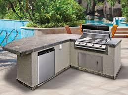 deck kitchen ideas u shaped stone outdoor island stainless steel
