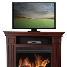 Tv Stand Fireplace Heater by Hampton Bay Chatham 56 In Media Console Electric Fireplace In