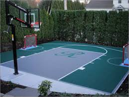 Backyard Sport Court Cost by Brilliant Design How Much Does A Backyard Basketball Court Cost