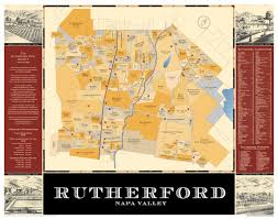 Napa Wine Map Heritage Maps Rutherford Dust Society