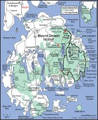 Paper Towns On Maps Mount Desert Island Map Acadia Maine