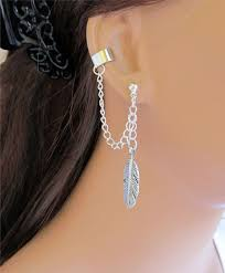 earrings with chain ear cartilage 120 best cool earrings images on jewelry ear cuffs