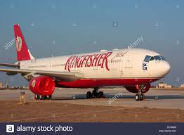stored airbus a330 200 in the colours of kingfisher airlines of