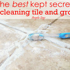 the best kept secret to cleaning tile and grout grout