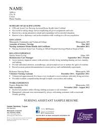 how to write a perfect cna resume examples included assistant