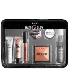 Make Up Nyx nyx professional makeup jet set travel kit matte vs glow free