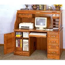 computer desk with door deluxe oak roll top computer desk 5307 co