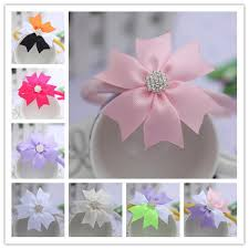 ribbon hair bands baby hair accessories flowers headwear children s big bows