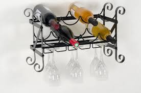 wall mount wine rack with glass holder home design ideas