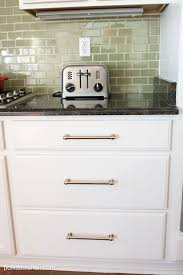 painted kitchen cabinet ideas and makeover reveal the green tile backsplash before and after photos kitchen that had cabinets painted