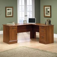 Office Furniture L Desk Sauder Select Shaker Cherry L Shaped Desk 412750