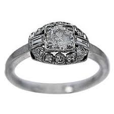 art deco 80 carat diamond antique engagement ring platinum for